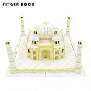 Finger Rock Official Store 3D Architecture Paper Puzzles India Taj Mahal Model WJZPTMPG168-3, White