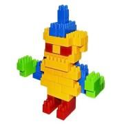 Cuburi constructie colorate pentru copii 130 piese Multicolore