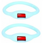 Baby Safety Inc - Pack of 2 - Glow in dark Reusable Mosquito Repellent Arm band - blue