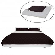 vidaXL Kétoldalú vattázott ágytakaró 170 x 210 cm bézs/barna