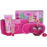 Moschino Pink Bouquet lote de regalo V. eau de toilette 100 ml + leche corporal 100 ml + brillo de labios 10 ml + mascarilla para dormir  + bolsa