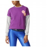 adidas Women's Stella Sport Spacer Training Crew Sweatshirt - Purple - XS - Purple