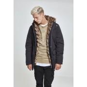 Hooded Faux Fur Parka black XXL