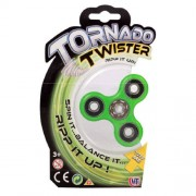 Jucarie antistres HTI Fidget Spinner Tornado Twister Verde