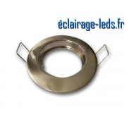 Support LED encastrable fixe chrome perçage 60mm ref sln-05