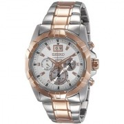 Seiko Round Dial Multicolor Stainless Steel Strap Analog Watch for Men - SPC188P1