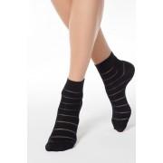 Sosete negre din material elastic cu calcai curbat