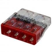 Set 10 conectori cu fixare prin impingere 4 conductoare 2,5mm2 24A Wago 2273-204 (Wago)