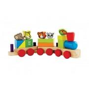 Jucarie eco din lemn Trenuletul animalelor Hape