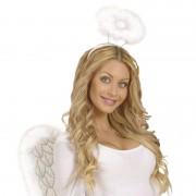 Geen Witte pluche engelen diadeem