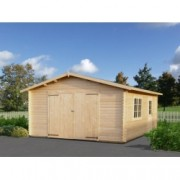 Garaje de madera Roger 4 de 450x550 cm. para Jardín