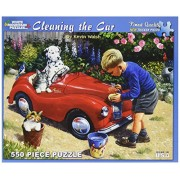 White Mountain Puzzles Cleaning The Car - 550 Piece Jigsaw Puzzle