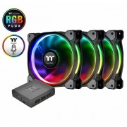 Thermaltake Riing Plus 12 LED RGB Radiator Fan TT Premium Edition (3 Fan Pack)