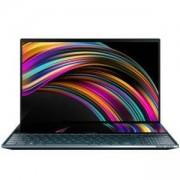 Лаптоп Asus ZenBook Pro Duo UX581LV-H2002R ScreenPad Plus, IntelCorei7-10750H, 15.6 инча OLED 4K (3840 x 2160) Touch, 16GB DDR4 RAM, 1TB SSD, NVIDIA GeForce RTX 2060 6GB GDDR6, Blue, Син, 90NB0RQ1-M00120