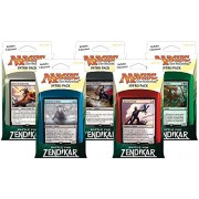 Magic The Gathering: Mtg Battle For Zendikar: Combo Intro Pack / Theme Deck (Set Of All 5 Intro Packs / Decks Including Alternate Art Promo Cards)