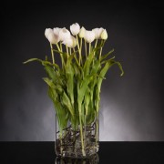 Aranjament floral SQUARE TULIP BABY PINK
