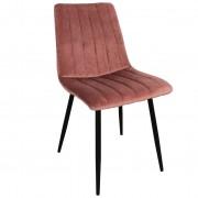 Nimara.se Enya sammet stol i Rosa med svarta ben