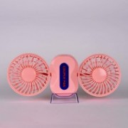 Happy2Buy Foldable Self Design Pink Hand Fan(Pack of 1)