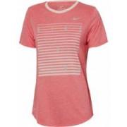Tricou femei Nike DRY TEE DBL RUNNING roz XS