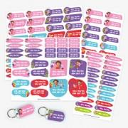Stikets Pack Etiketten Dora