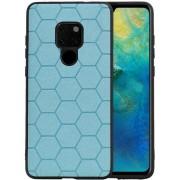 Blauw Hexagon Hard Case voor Huawei Mate 20