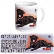 123 Kado koffiemokken Koffie mok zwarte Labrador hond 300 ml