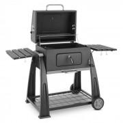 Klarstein Bigfoot träkolgrill smoker BBQ-grill 55 x 40cm stål svart