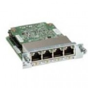 Cisco Four port 10/100/1000 Ethernet switch interface card w/PoE