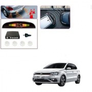 Auto Addict Car White Reverse Parking Sensor With LED Display For Volkswagen Polo GTI