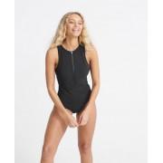Superdry Swim Sport Badeanzug 40 schwarz