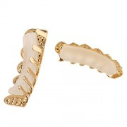 ELECTROPRIME Vampire Blue Crystal Grills Gold Plated Grills Mouth Grill Hip Hop Joker