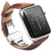 Pulseira de Pele Qialino para Apple Watch - 42mm - Castanho