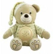 Jucarie din plus cu proiector Baby Mix Happy Bear Cream