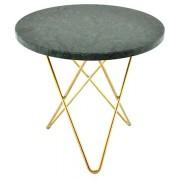 OX DENMARQ Mini O table - Grön marmor, mässing stomme OX DENMARQ