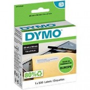 Dymo LW Address Labels 11352 Black on White 25 mm x 54 mm 500 Labels