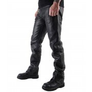 pantaloni uomo pelle OSX - Balestruccio - Nero - 301