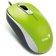 Egér, vezetékes, optikai, normál méret, USB, GENIUS DX-110 zöld (GEEDX110G)