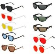 INSH Wayfarer, Round, Rectangular, Aviator Sunglasses(Red, Black, Yellow, Brown, Blue, Green)