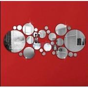 3D Strieborné zrkadlové guličky na stenu, strop (28 kusov)