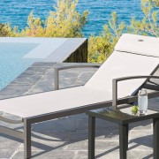 Hespéride Table d'appoint Piazza anthracite graphite Jardin