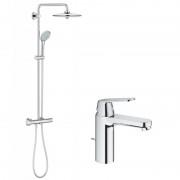 Pachet: Coloana dus Grohe Euphoria 260-27296002 Baterie lavoar Grohe Eurosmart Cosmopolitan M-23325000