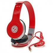 Signature Vm-46 Stereo Bass Solo Headphones For All Smartphones (Red)