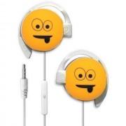 Start Auricolare A Filo Stereo Smile-01 Headphones Jack 3,5mm Universale Per Musica Yellow Per Modelli A Marchio Huawei