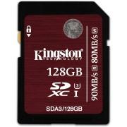 Kingston 128GB SDXC UHS-I Speed Class 3 90MB/s read 80MB/s write