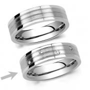Silvego L´AMOUR dámský ocelový snubní prsten - RRC2095-Z