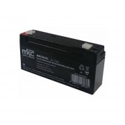 MKC Batteria Al Piombo 6v 3,2 Ah Tampone Accumulatore Ricaricabile Terminale Faston 4,8mm