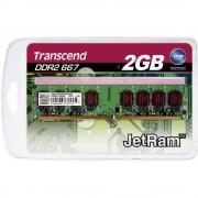 Radna memorija za stolna računala Modul Transcend JetRam JM667QLU-2G 2 GB 1 x 2 GB DDR2-RAM 667 MHz CL5 5-5-15