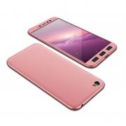 GKK 360 Protection telefon tok hátlap tok Első és hátsó tok telefon tok hátlap az egész testet fedő Xiaomi redmi NOTE 5A rózsaszín