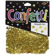 Beistle CN057 Gold Holographic Stars Confetti 1/2-Ounce
