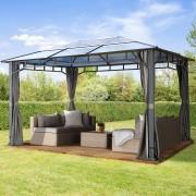 taltpartner.se Trädgårdspaviljonger 3x4m Polykarbonatplattor 8 mm loft grey vattentät